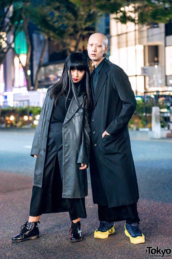Harajuku Duos All Black Minimalist Street Styles W Yohji