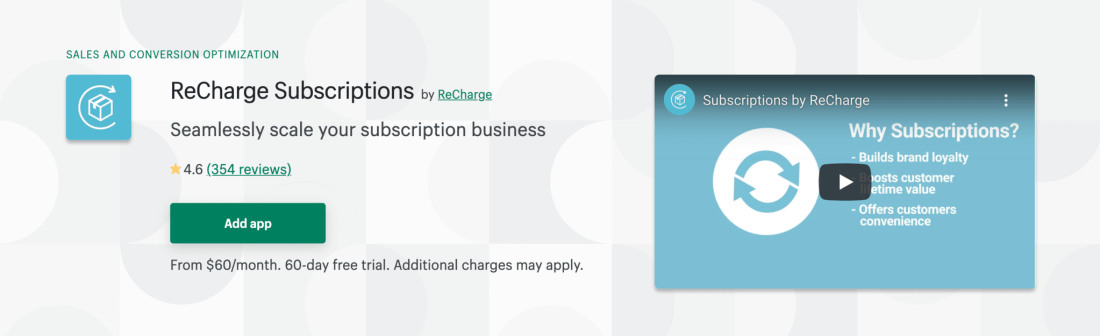Shopify subscription