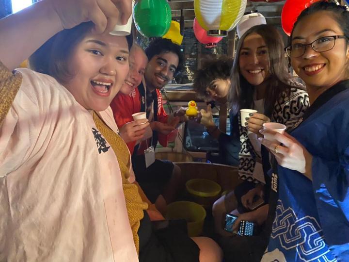 salsakura latin party sakura hostel asakusa meetup salsa party 移動式銭湯
