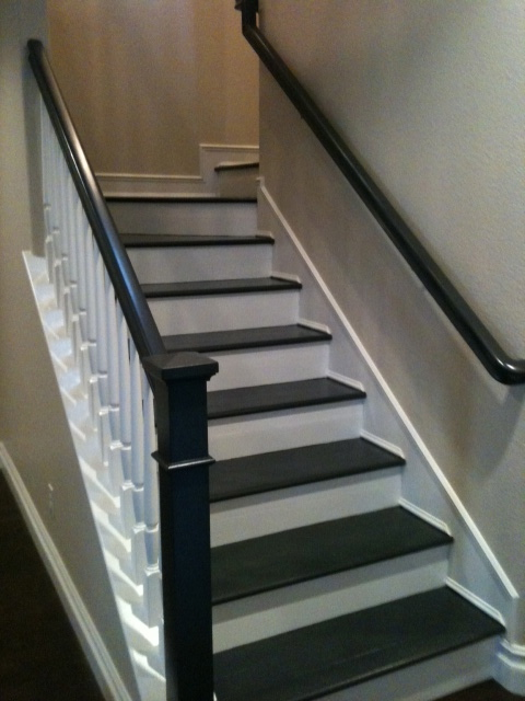 Painted stairs for Painted stair treads