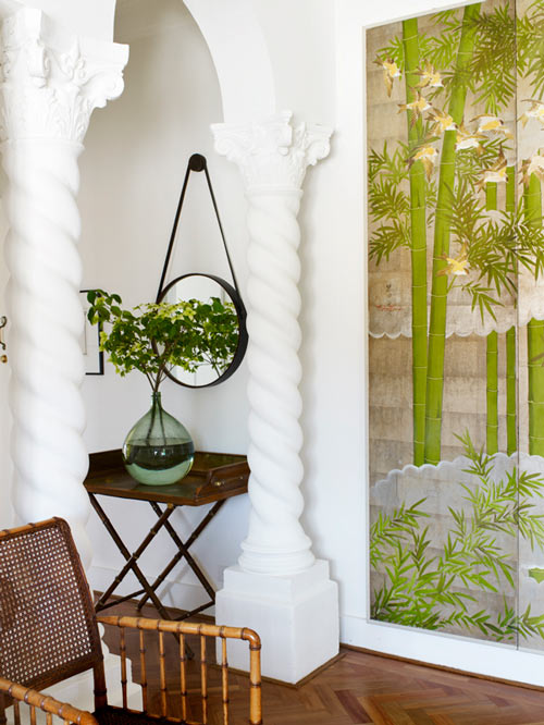 Sarah Davison screeen bamboo chair