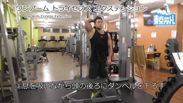 ワンアームトライセプスエクステンション(One Arm Triceps Extension)のやり方とフォーム