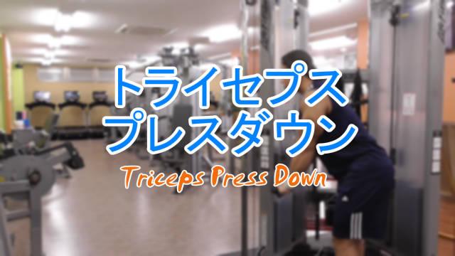 cTriceps Press Downトライセプスプレスダウンのやり方と基本フォーム