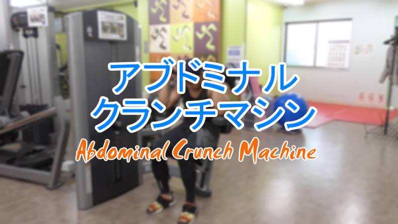 アブドミナルクランチマシン(Abdominal Crunch Machine)のやり方とフォーム