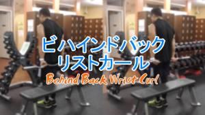 ビハインドバックリストカール(Behind Back Wrist Curl)のやり方とフォーム