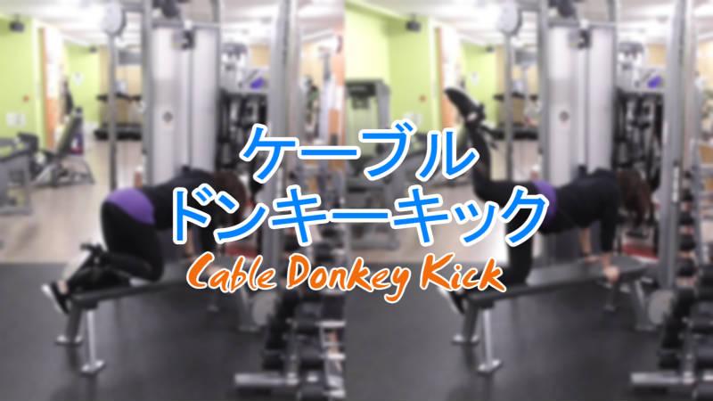 ケーブルドンキーキック(Cable Donkey Kick)のやり方とフォーム
