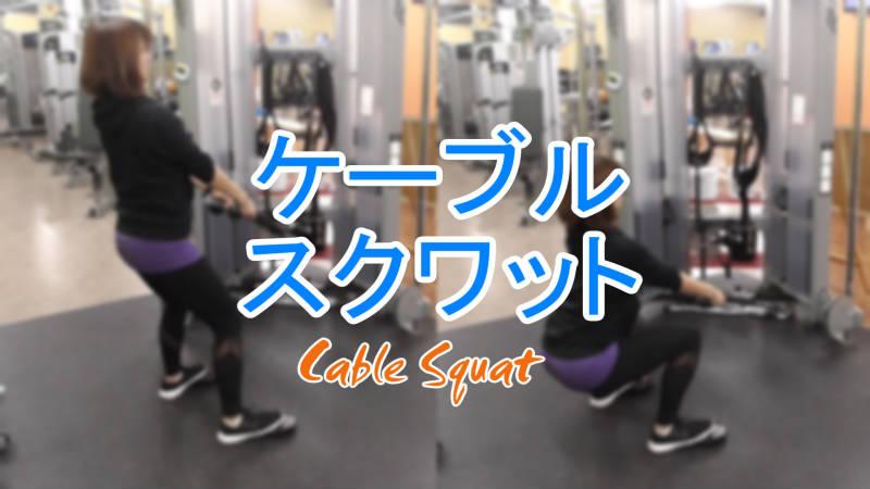 ケーブルスクワット(Cable Squat)のやり方とフォーム