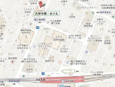 吉祥寺第一ホテル 地図