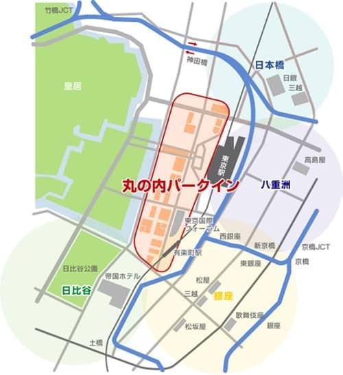 丸の内駐車場マップ