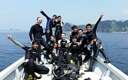 西伊豆堂ヶ島の海でライセンス取得(2日間)追加費用なし