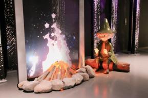 コケムス「体感展示ムーミン谷の自然」のスナフキン