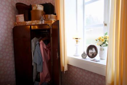 ムーミン屋敷の2階にあるムーミンパパとムーミンママの寝室