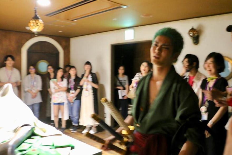 東京ワンピースタワー「ピーストレイル~冒険者と奇跡の泉~」ゾロ