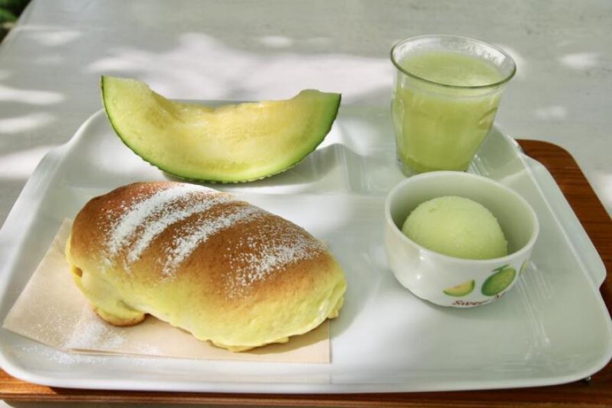 Fruit cafe NiJiのメロンフルコース