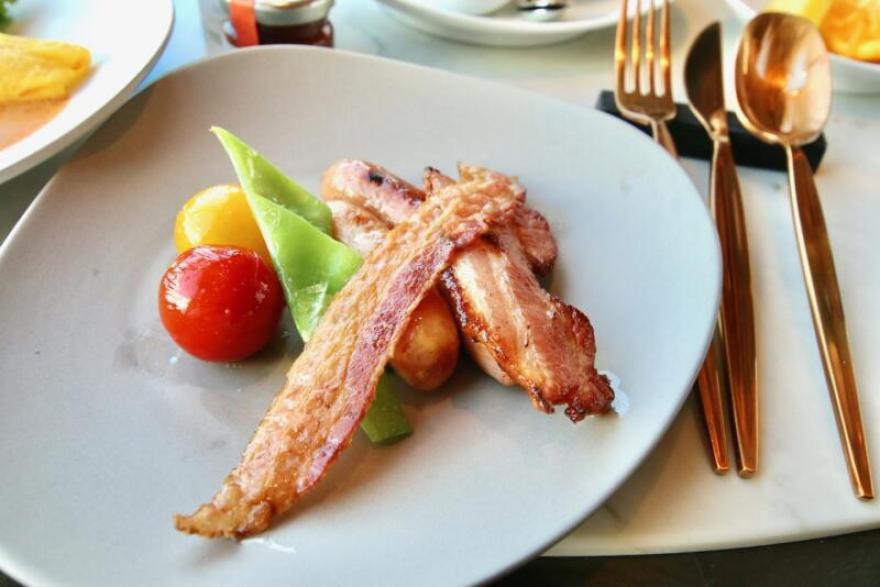 メズム東京、シェフズ・シアターの朝食 カリカリベーコン