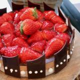いちごのガーデンバスケットケーキ
