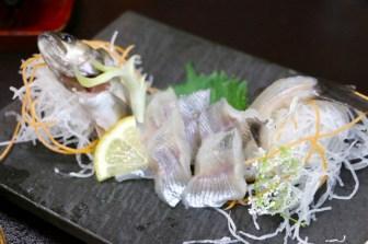 清流岩魚のお造り