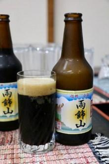 小谷村のそば粉を使った黒ビール