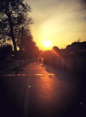 今日の夕陽 in 広州