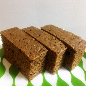 ふすまパンミックスでココナッツバター風味のコーヒーケト蒸しパンを作りました。