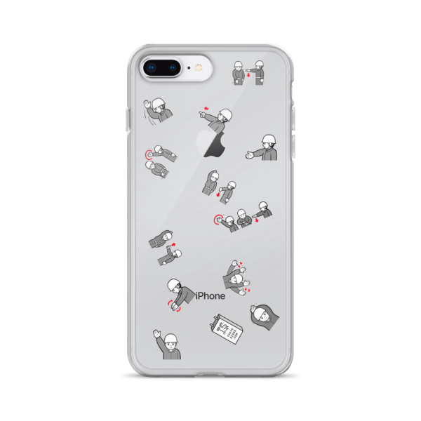 Construction site hand signals - iPhone case