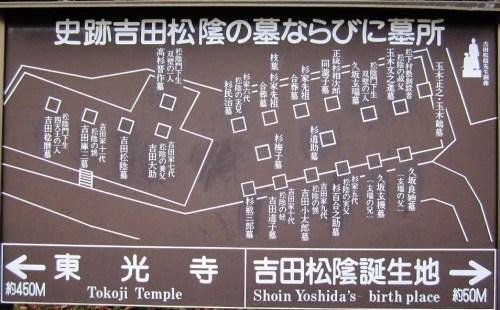 吉田松陰墓所案内図
