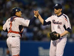 Carpenter has closed out both of Tokyo's wins so far this week.