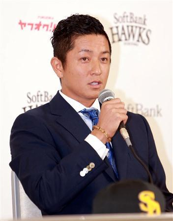 Keizo at his SoftBank press conference.