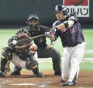Hatakeyama erased Takeda's hopes of a complete game shutout with his two run homer in the ninth.