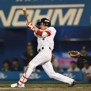 Yamada homered in the 8th.