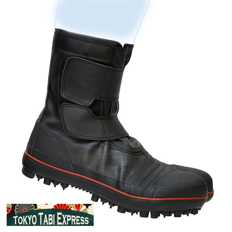 f15c27d35ee BLACK SHOES BLACK SPIKED RED STRIPE TABI NINJA BOOTS JAPANESE UNISEX SAFETY  JIKATABI - TOKYO TABI EXPRESS