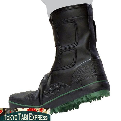 0d59c2ab5ca BLACK SHOES GREEN SPIKED TABI NINJA BOOTS JAPANESE UNISEX SAFETY JIKATABI