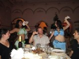 Phil enjoying the company of belly dancers in Tashkent