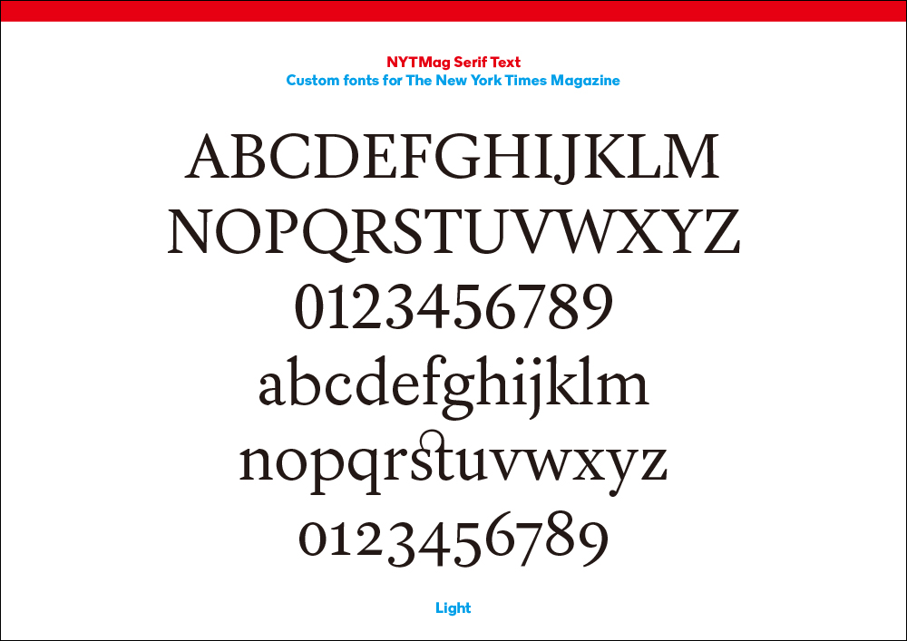 Henrik Kubel + Scott Williams|The New York Times Magazine Custom Fonts