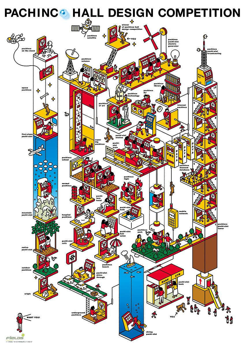 パチンコホールデザインコンペティション / 2001 | ポスター