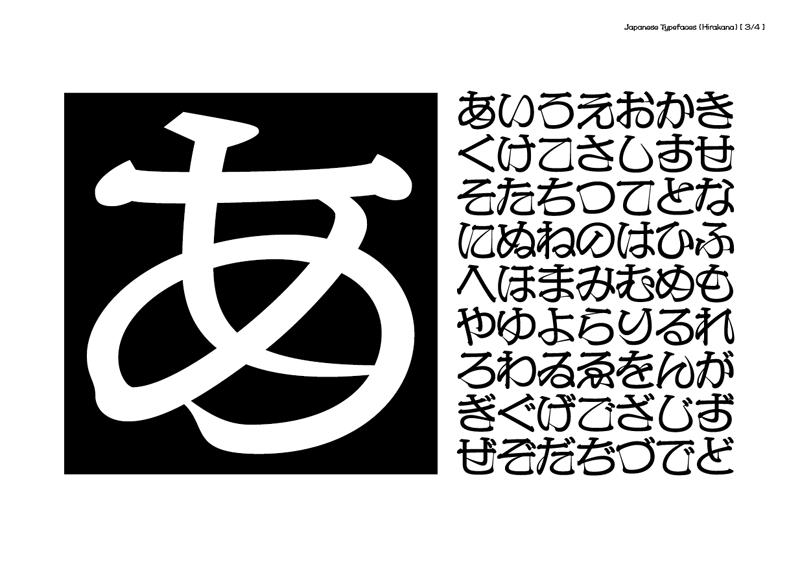 京千社 / 2010 | タイプデザイン_ひらがな