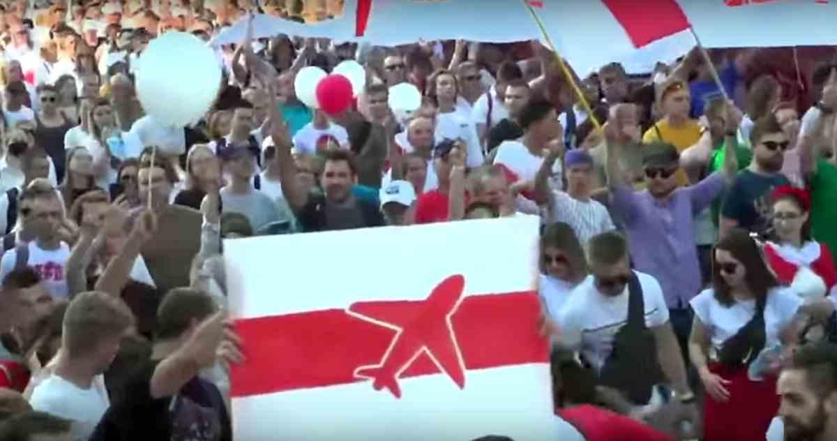 Belarus anti-government protest 16.8.2020