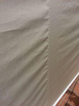 Toldo cortaviento para cerramiento de carpa detalle de la lona