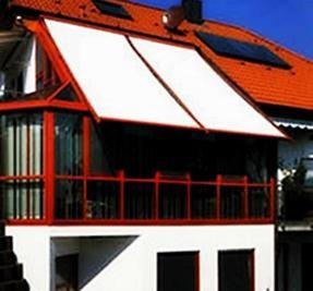 Toldo veranda sobre plano inclinado