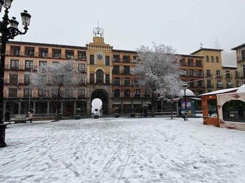 Plaza de Zocodover Toledo nevado