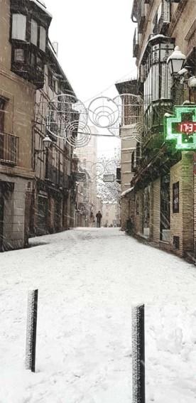 Calle Santo Tome Toledo Nevado