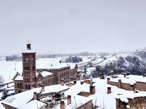Estación de Trenes de Toledo nevado