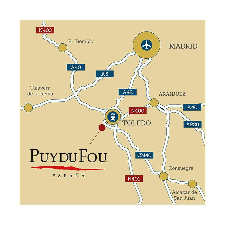 Mapa localización Puy du Fou Toledo