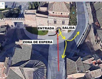Acceso a la Puerta de Bisagra Toledo