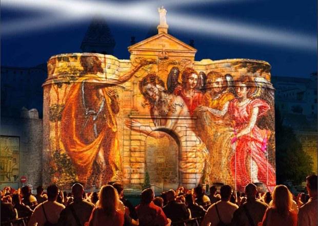 Espectáculo de Luz y Sonido en puerta de Bisagra - Toledo