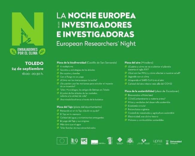 La Noche Europea de los investigadores e investigadoras Toledo