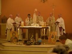 Bishop Declan rededicating the Church, February 2008
