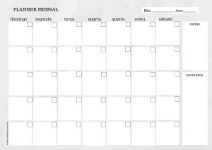 Planner mensal cinza