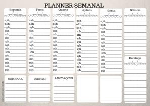 Planner semanal gratuito