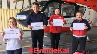 Photo of Ambulans helikopter ekipleri: #Evindekal